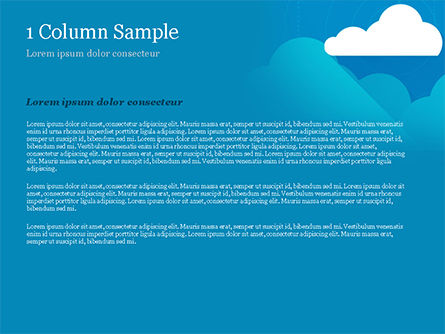 Paper Clouds PowerPoint Template, Slide 4, 15230, Nature & Environment — PoweredTemplate.com
