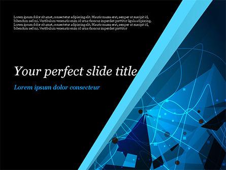 Abstract Geometrical Blue Bear PowerPoint Template, 15231, Abstract/Textures — PoweredTemplate.com