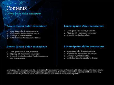 Abstract Geometrical Blue Bear PowerPoint Template, Slide 2, 15231, Abstract/Textures — PoweredTemplate.com