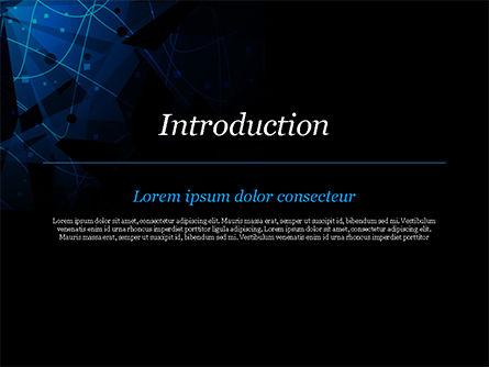 Abstract Geometrical Blue Bear PowerPoint Template, Slide 3, 15231, Abstract/Textures — PoweredTemplate.com