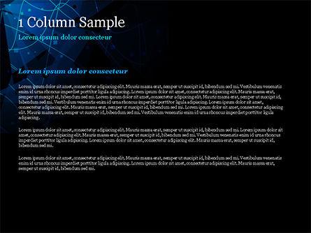Abstract Geometrical Blue Bear PowerPoint Template, Slide 4, 15231, Abstract/Textures — PoweredTemplate.com