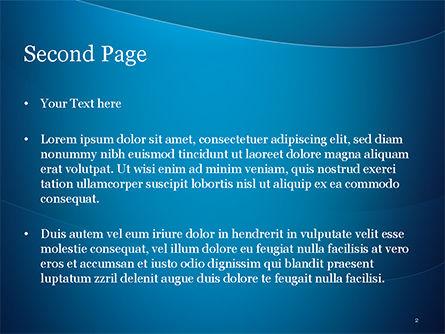 Blue Serenity PowerPoint Template, Slide 2, 15234, Abstract/Textures — PoweredTemplate.com