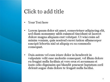 Blue Serenity PowerPoint Template, Slide 3, 15234, Abstract/Textures — PoweredTemplate.com