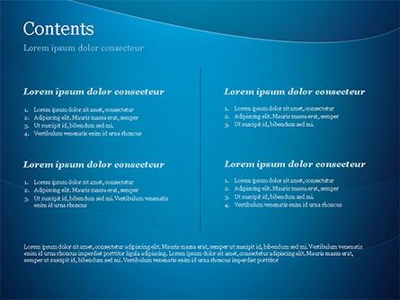 Blue Serenity PowerPoint Template, Slide 2, 15234, Abstract/Textures — PoweredTemplate.com