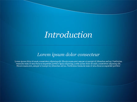Blue Serenity PowerPoint Template, Slide 3, 15234, Abstract/Textures — PoweredTemplate.com