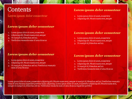 Colorful Rainbow Food PowerPoint Template, Slide 2, 15235, Food & Beverage — PoweredTemplate.com