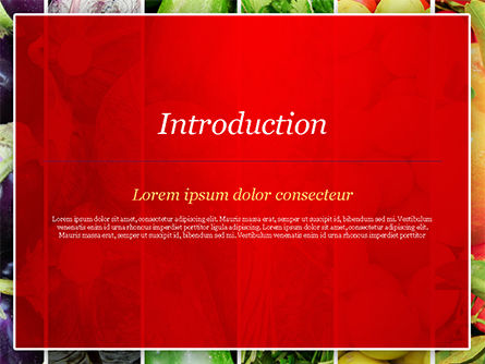 Colorful Rainbow Food PowerPoint Template, Slide 3, 15235, Food & Beverage — PoweredTemplate.com