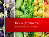 Food & Beverage: Colorful Rainbow Food PowerPoint Template #15235