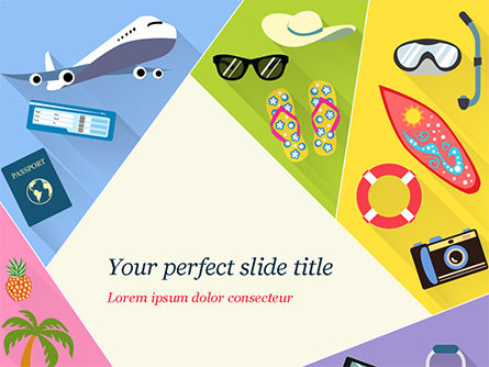 Summer Vacations PowerPoint Template, 15236, Holiday/Special Occasion — PoweredTemplate.com