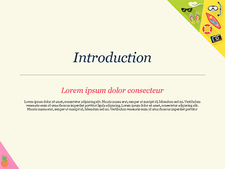 Summer Vacations PowerPoint Template, Slide 3, 15236, Holiday/Special Occasion — PoweredTemplate.com