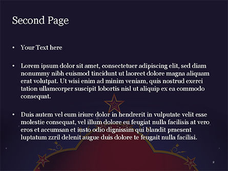 Magic Background PowerPoint Template, Slide 2, 15237, Abstract/Textures — PoweredTemplate.com