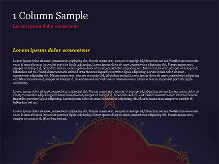 Magic Background PowerPoint Template, Slide 4, 15237, Abstract/Textures — PoweredTemplate.com