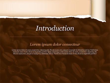 Blurry Coffee Beans PowerPoint Template, Slide 3, 15239, Food & Beverage — PoweredTemplate.com