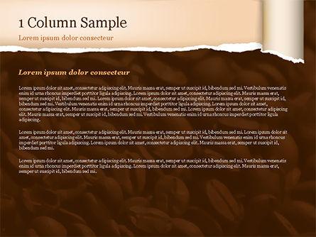 Blurry Coffee Beans PowerPoint Template, Slide 4, 15239, Food & Beverage — PoweredTemplate.com