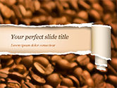 Food & Beverage: Blurry Coffee Beans PowerPoint Template #15239