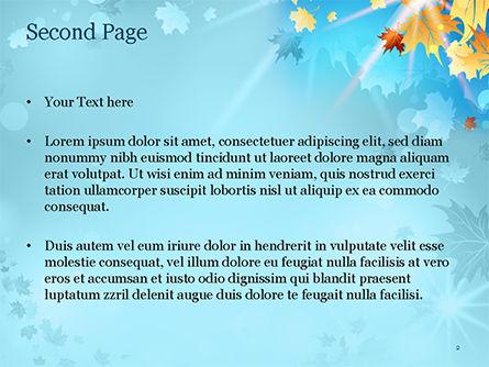 Beautiful Sunny Autumn PowerPoint Template, Slide 2, 15240, Nature & Environment — PoweredTemplate.com