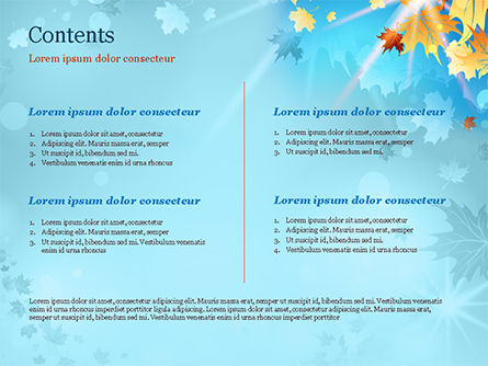 Beautiful Sunny Autumn PowerPoint Template, Slide 2, 15240, Nature & Environment — PoweredTemplate.com
