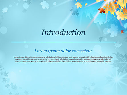 Beautiful Sunny Autumn PowerPoint Template, Slide 3, 15240, Nature & Environment — PoweredTemplate.com