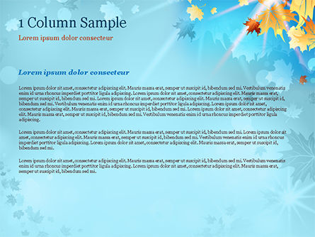 Beautiful Sunny Autumn PowerPoint Template, Slide 4, 15240, Nature & Environment — PoweredTemplate.com