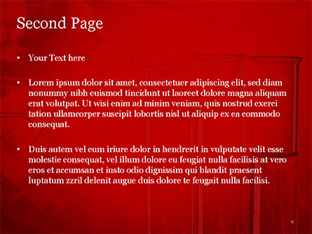 Science Laboratory Test Tubes PowerPoint Template, Slide 2, 15243, Technology and Science — PoweredTemplate.com
