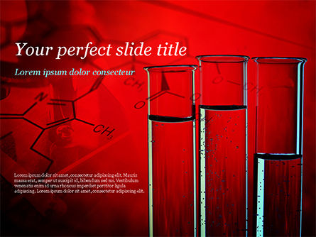 Science Laboratory Test Tubes PowerPoint Template, 15243, Technology and Science — PoweredTemplate.com