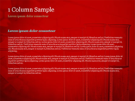 Science Laboratory Test Tubes PowerPoint Template, Slide 4, 15243, Technology and Science — PoweredTemplate.com