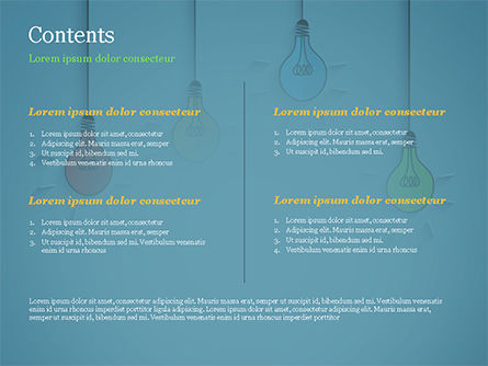 Colored Light Bulbs PowerPoint Template, Slide 2, 15246, Business Concepts — PoweredTemplate.com