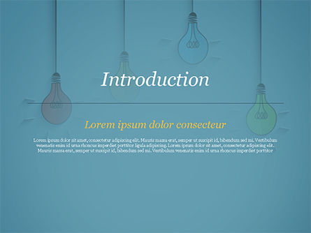 Colored Light Bulbs PowerPoint Template, Slide 3, 15246, Business Concepts — PoweredTemplate.com