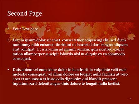 Bright Sunny Autumn PowerPoint Template, Slide 2, 15247, Nature & Environment — PoweredTemplate.com