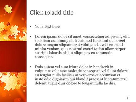 Bright Sunny Autumn PowerPoint Template, Slide 3, 15247, Nature & Environment — PoweredTemplate.com