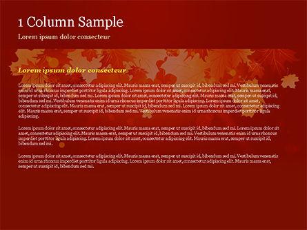 Bright Sunny Autumn PowerPoint Template, Slide 4, 15247, Nature & Environment — PoweredTemplate.com