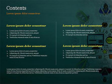 SMM PowerPoint Template, Slide 2, 15248, Business Concepts — PoweredTemplate.com