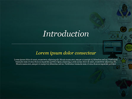 SMM PowerPoint Template, Slide 3, 15248, Business Concepts — PoweredTemplate.com