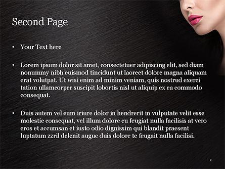 Beautiful Woman's Face PowerPoint Template, Slide 2, 15251, Careers/Industry — PoweredTemplate.com
