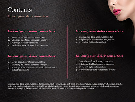 Beautiful Woman's Face PowerPoint Template, Slide 2, 15251, Careers/Industry — PoweredTemplate.com