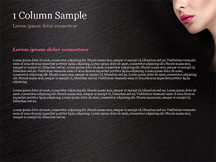 Beautiful Woman's Face PowerPoint Template, Slide 4, 15251, Careers/Industry — PoweredTemplate.com
