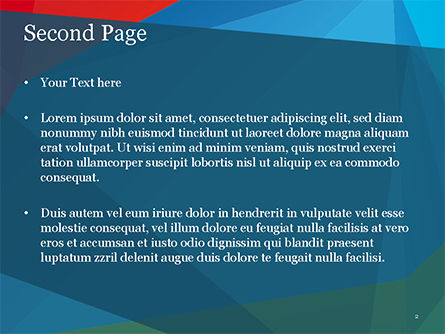 Abstract Polygonal Background PowerPoint Template, Slide 2, 15255, Abstract/Textures — PoweredTemplate.com