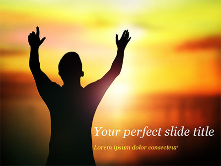 Sunrise Prayer PowerPoint Template, 15258, Religious/Spiritual — PoweredTemplate.com