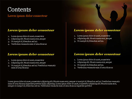 Sunrise Prayer PowerPoint Template, Slide 2, 15258, Religious/Spiritual — PoweredTemplate.com