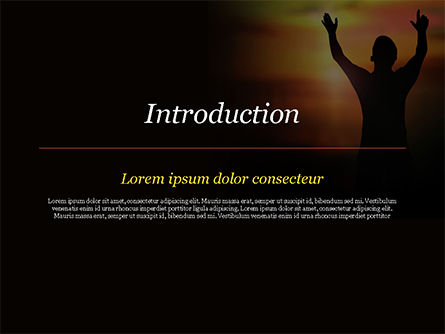 Sunrise Prayer PowerPoint Template, Slide 3, 15258, Religious/Spiritual — PoweredTemplate.com