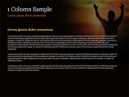 Sunrise Prayer PowerPoint Template, Slide 4, 15258, Religious/Spiritual — PoweredTemplate.com