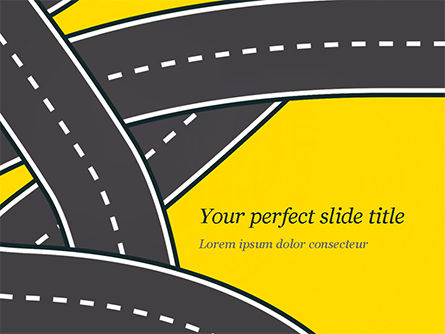 Construction: Roads Illustration PowerPoint Template #15259