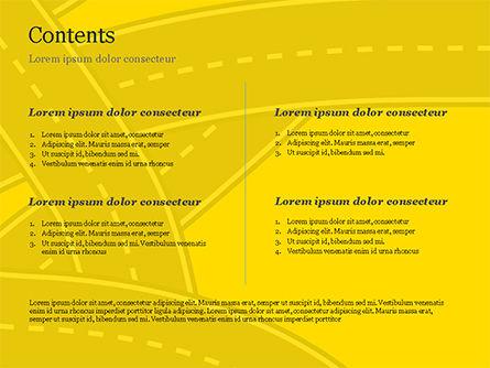 Roads Illustration PowerPoint Template, Slide 2, 15259, Construction — PoweredTemplate.com