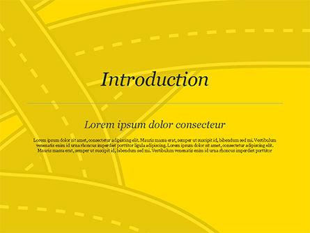Roads Illustration PowerPoint Template, Slide 3, 15259, Construction — PoweredTemplate.com