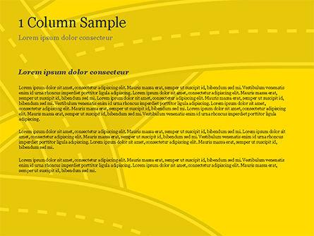 Roads Illustration PowerPoint Template, Slide 4, 15259, Construction — PoweredTemplate.com