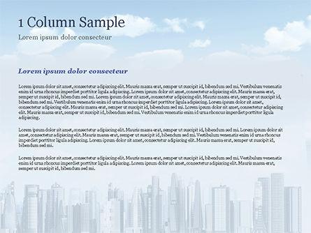 Laptop on Cityscape Background PowerPoint Template, Slide 4, 15260, Computers — PoweredTemplate.com