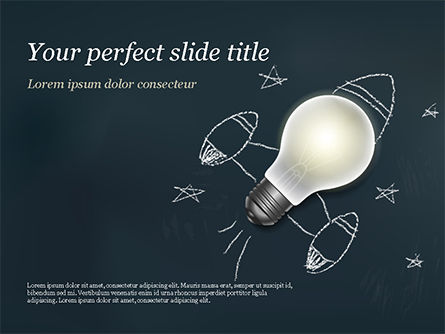 Business Concepts: Creative Rocket Light Bulb PowerPoint Template #15261
