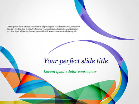 Colorful Abstract Background with Sharp Curls PowerPoint Template, 15262, Abstract/Textures — PoweredTemplate.com