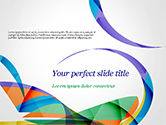 Abstract/Textures: Colorful Abstract Background with Sharp Curls PowerPoint Template #15262