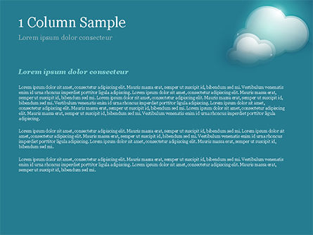 Turquoise Sparkling Clouds PowerPoint Template, Slide 4, 15264, Nature & Environment — PoweredTemplate.com